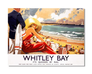 Whitley Bay LMS LNER - Vintage Railway Metal Wall Sign