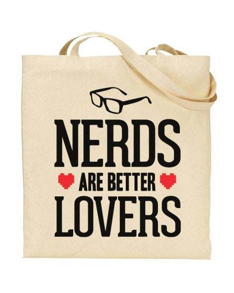 Nerds Are Better Lovers Canvas Shopper Tote Bag