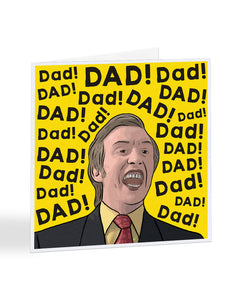 Alan Partridge - Dad! - Fathers Day Greetings Card