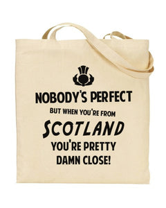 Nobody's Perfect - NEWCASTLE - Canvas Shopper Tote Bag