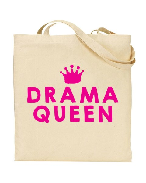 Drama Queen Funny Canvas Shopper Tote Bag