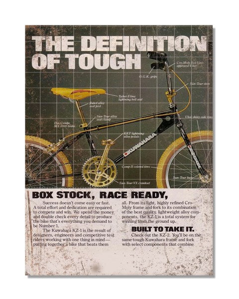 The Definition Of Tough -  Vintage Metal Bicycle Wall Sign