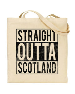 Straight Outta Scotland - Regional Pride Canvas Shopper Tote Bag