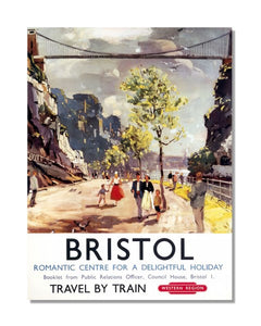 Bristol Travel By Train British Railway - Vintage Railway Metal Wall Sign