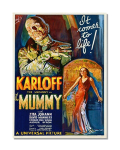 The Mummy - Karloff - Vintage Movie Poster Metal Wall Sign
