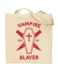 Vampire Slayer Since 1997- Buffy Inspired Canvas Shopper Tote Bag