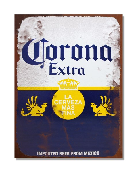 Corona Extra Imported Beer - Vintage Beer Advert Bar Wall Sign