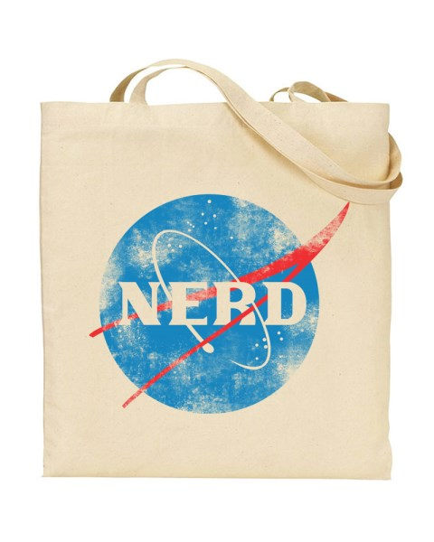 Nerd Nasa Canvas Shopper Tote Bag
