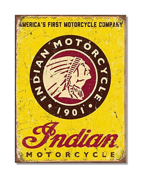 Indian Motorcycles America's First Motorcycle Company - Automotive Wall Sign
