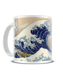 The Great Wave Off Kanagawa - Hokusai Classic Japanese Artwork Ceramic Mug