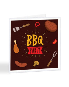BBQ Party Invite - Funny RSVP Greetings Card
