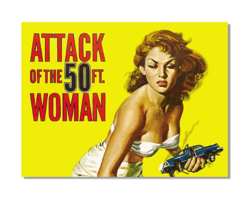Attack Of The 50ft Woman - Vintage Movie Poster Wall Sign