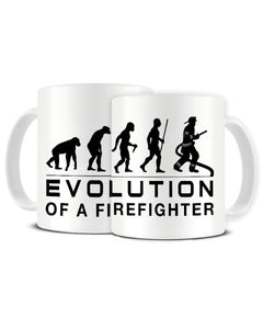 Evolution Of A Firefighter Charles Darwin Inspired Ceramic Mug