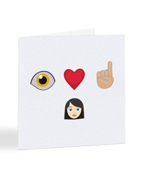 I Love You Mum Mother's Day Text Emoji Greetings Card