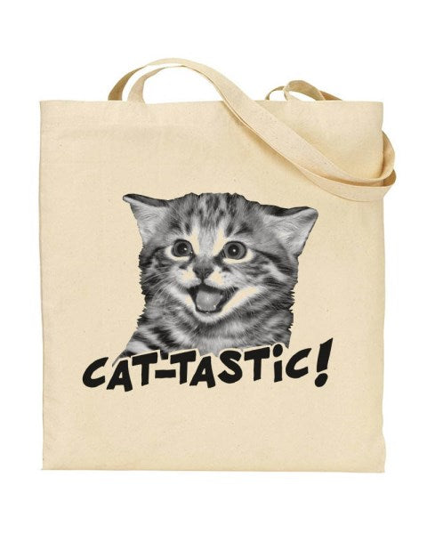 Cat-Tastic Canvas Shopper Tote Bag