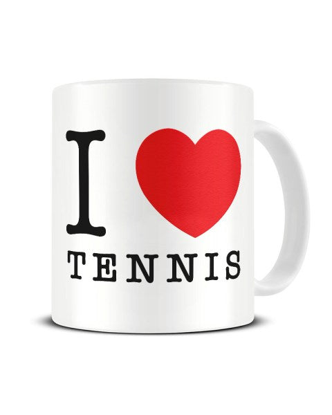 I Love (Heart) Tennis Ceramic Mug