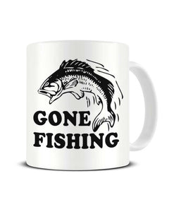Gone Fishing Funny Ceramic Mug