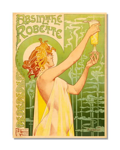 Absinthe Robette - Classic Painting Metal Wall Sign