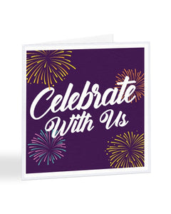 Celebrate With Us - Party Invite - Funny RSVP Greetings Card