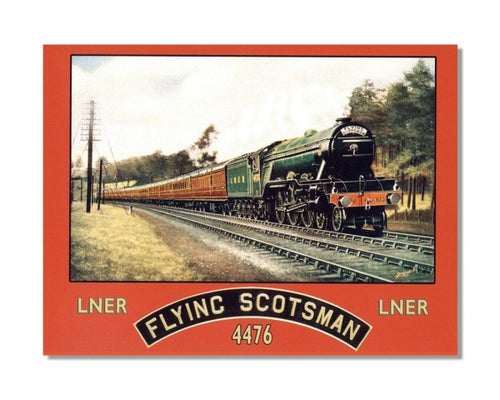 The Flying Scotsman - Vintage Railway Metal Wall Sign