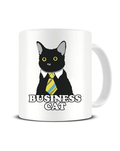 Business Cat Funny Office Meme Ceramic Mug