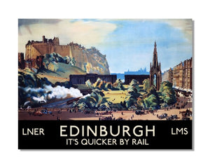 Edinburgh LNER Railway - Vintage Railway Metal Wall Sign