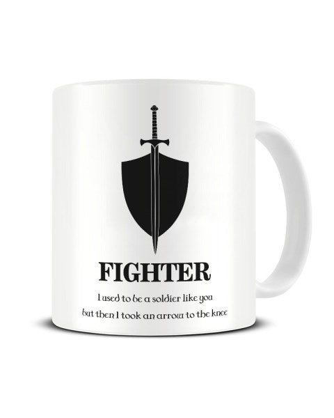 Fighter Dungeons And Dragons Character Funny Ceramic Mug