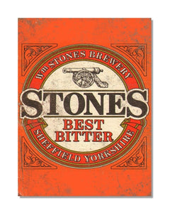 Stones Best Bitter - Vintage Beer Advertisement Metal Wall Sign
