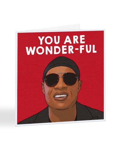 You Are Wonder-ful - Stevie Wonder - Funny Congratulations Greetings Card