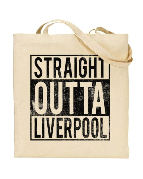 Straight Outta Liverpool - Regional Pride Canvas Shopper Tote Bag