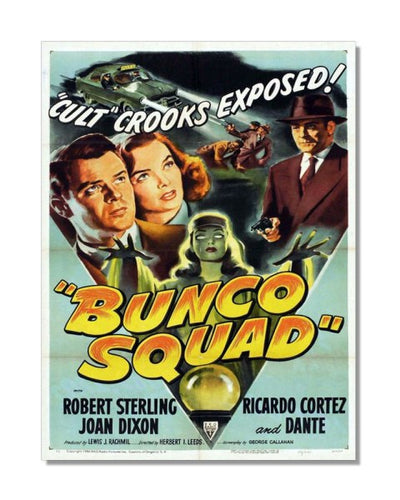 Bunco Squad Cult Crooks Exposed - Vintage Movie Poster Metal Wall Si