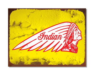 Indian Motorcycles Chief - Vintage Automotive Metal Garage Wall Sign