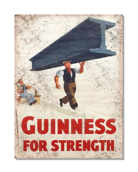 Guinness For Strength - Vintage Metal Bar Wall Sign