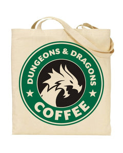 Dungeons And Dragons Coffee Starbucks MashUp - Canvas Shopper Tote Bag