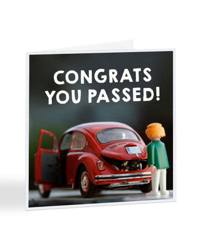 Congrats On Passing Your Test - Passed Driving Test Greetings Card