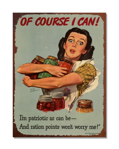 Of Course I Can - Old War Poster - Funny Vintage Kitchen Wall Sign