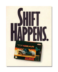 Shift Happens - Vintage Automotive Video Game Advert Garage Sign