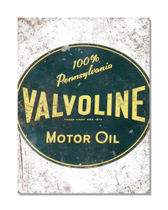 Valvoline Motor Oil - Vintage Metal Garage Wall Sign