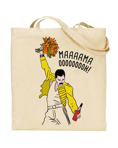 Mama Ooh - Freddie Mercury - Queen - Mothers Day Canvas Shopper Tote Bag