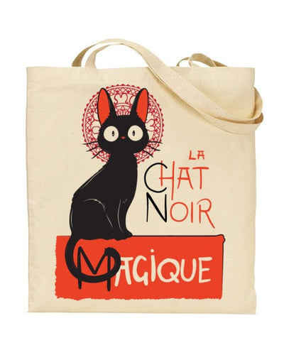 La Chat Noir Magique Kiki's Delivery Service Inspired  - Canvas Shopper Tote Bag