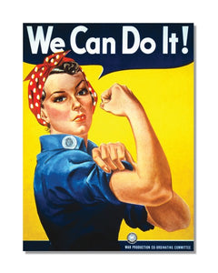 We Can Do It - Vintage World War Metal Sign
