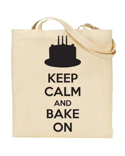 Keep Calm And Bake On Canvas Shopper Tote Bag