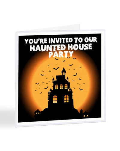 You're Invited To Our Haunted House Party - Funny RSVP Card Gree
