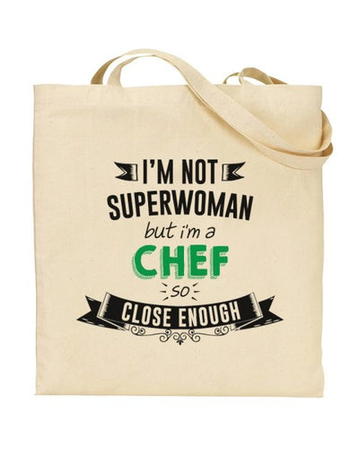 I'm Not Superwoman - CHEF - Canvas Shopper Tote Bag