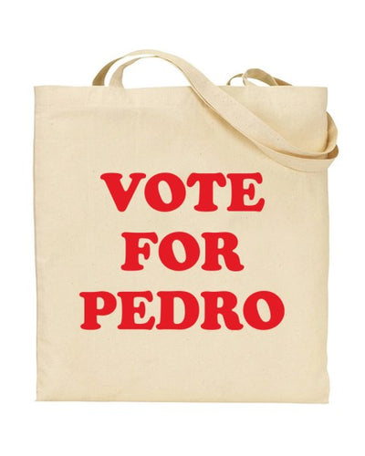 Vote For Pedro - Napoleon Dynamite Inspired Canvas Shopper Tote Bag