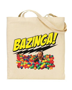 Bazinga - The Big Band Theory Inspired  - Canvas Shopper Tote Bag