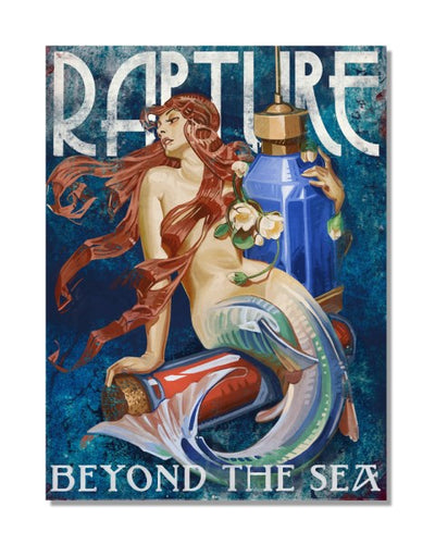 Rapture Beyond The Sea - Bioshock Video Gaming Inspired Metal Wall Sign