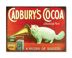 Cadbury's Cocoa Absolutely Pure - Vintage Advert Kitchen Wall Sign