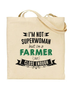 I'm Not Superwoman - FARMER - Canvas Shopper Tote Bag