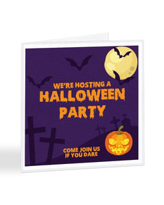 We're Hosting A Halloween Party - Halloween Party - Funny RSVP Card Greetings
